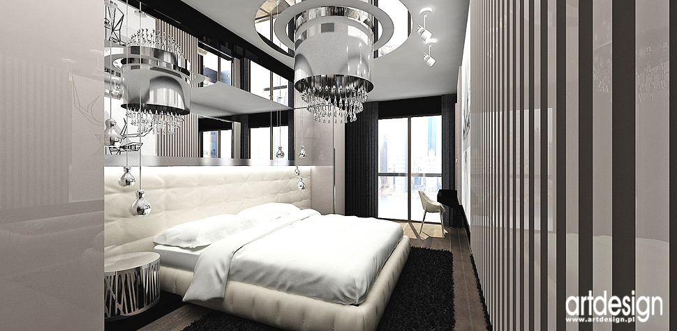 sypialnia w nowoczesnym apartamencie