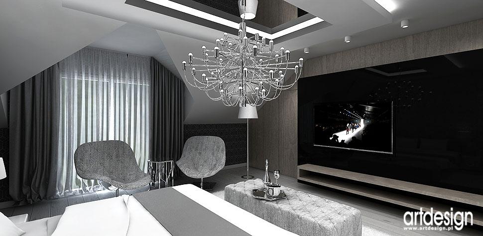 nowoczesne projekty wnętrz dom sypialnia