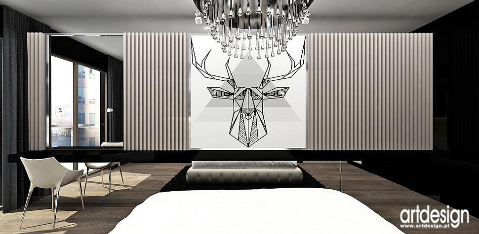 wnetrza apartament nowoczesna sypialnia