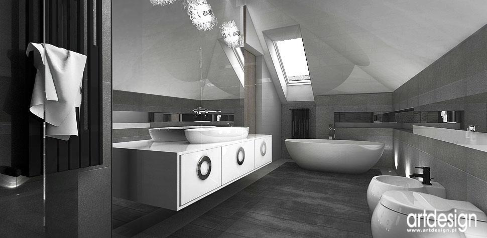 architektura wnętrz nowoczesny dom łazienka