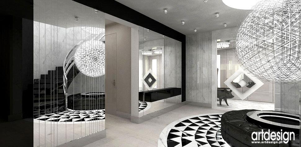 projektowanie wnetrza design hol i schody