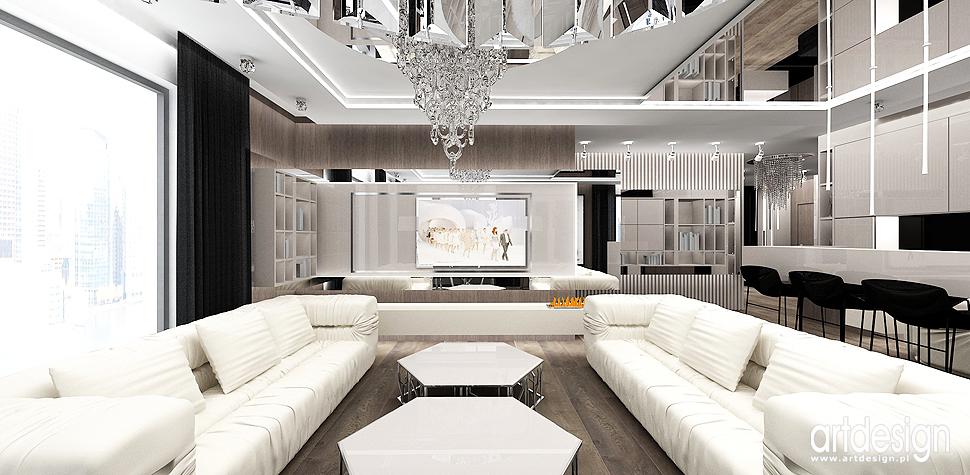 architektura wnetrz nowoczesny apartament salon
