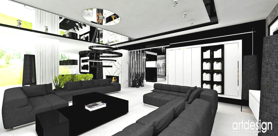 wnetrze domu projekty luksusowy salon
