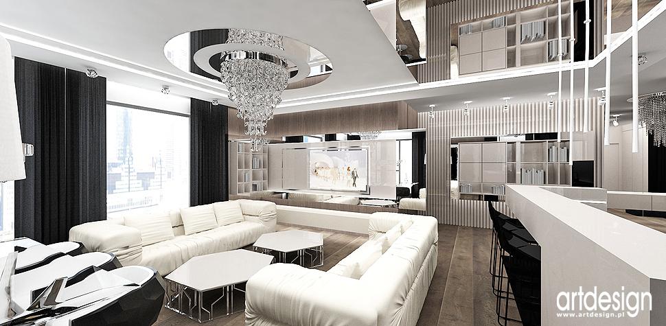 aranzacja wnetrza ekskluzywnego apartamentu pokój dzienny