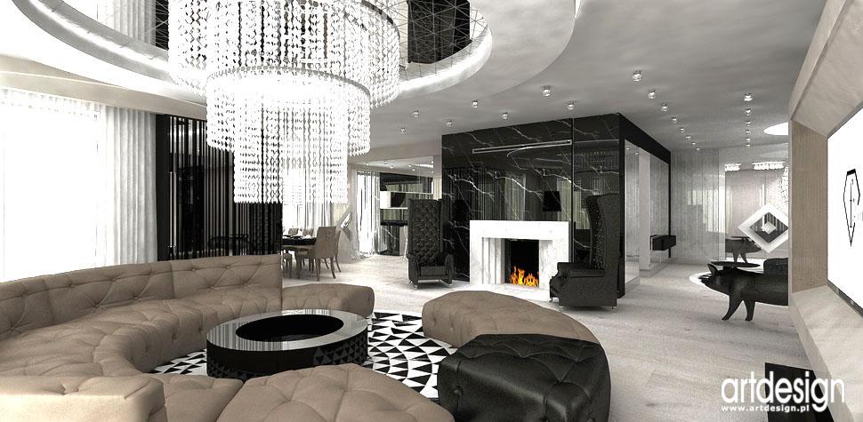 projekt wnetrz luksusowa rezydencja