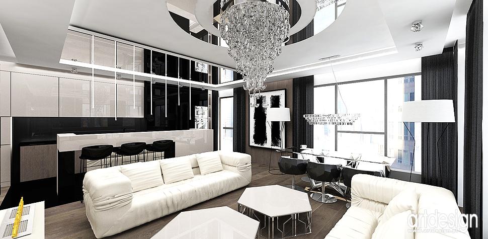 wnetrza apartament nowoczesny design jadalnia