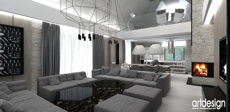 projekty nowoczesne wnetrza aranzacje wnetrz dom pokój dzienny