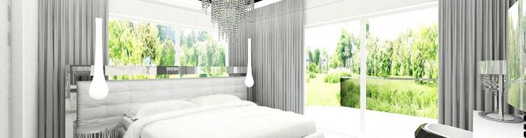 architektura wnetrz domu sypialni