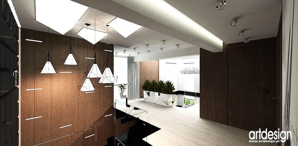 luksusowe projekty wnętrz hol antresola