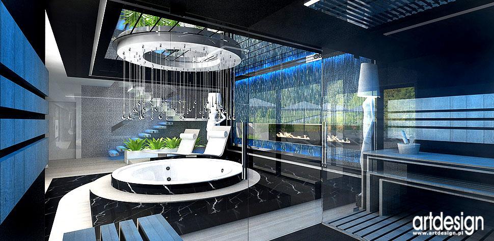 sauna domowa spa w domu wnętrza aranażcje luksus i elegancja