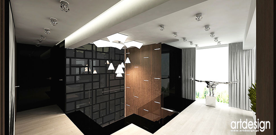 projektant wnętrz hol luksusowe domy
