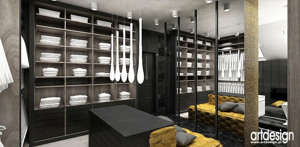 luksusowe wnętrza sypialnia garderoba