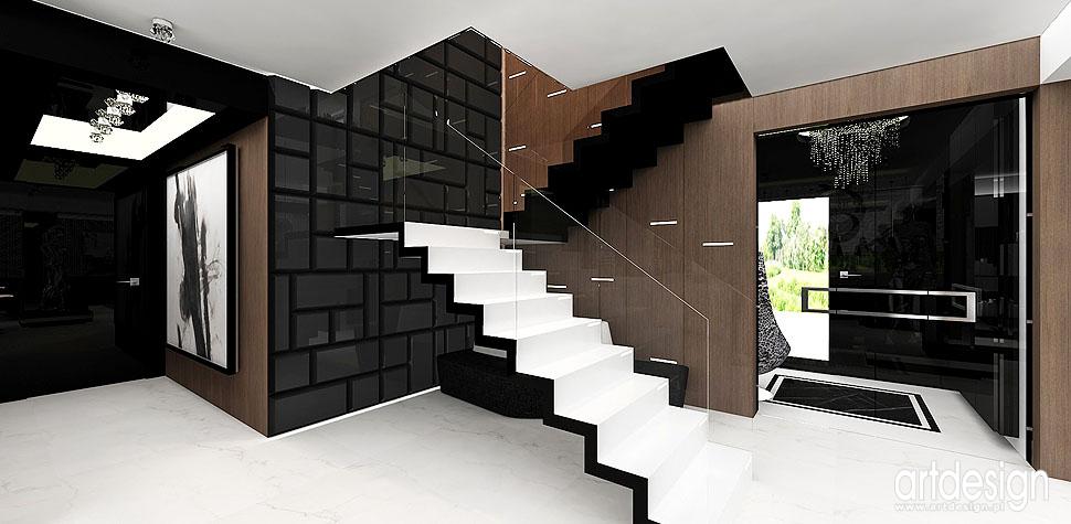 schody wnętrza hol architekci wnętrz