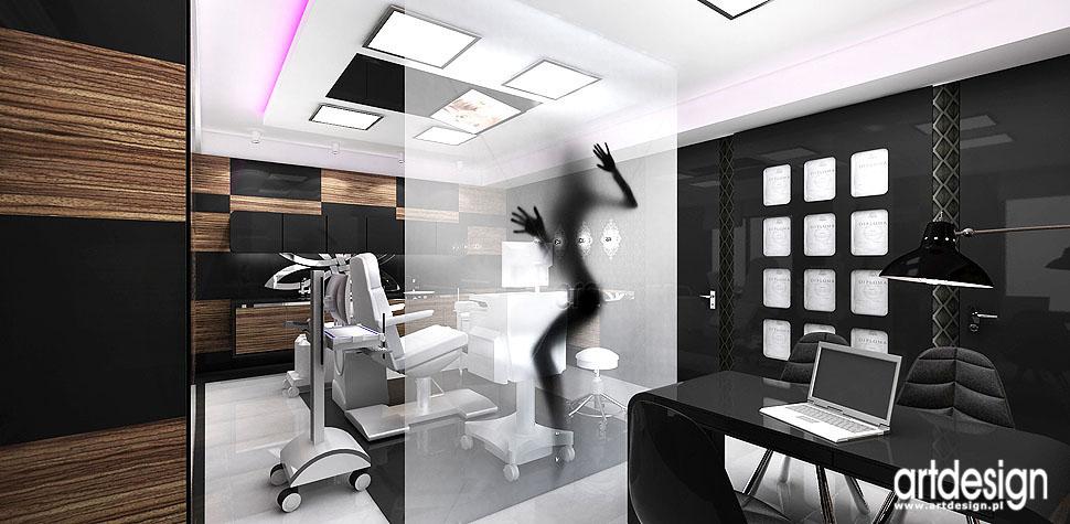 projektowanie wnętrz gabinet medycyny estetycznej