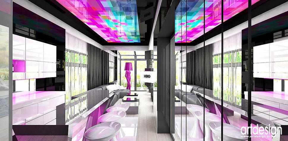 projektowanie pokój rekreacyjny barek wnętrza nowoczesne