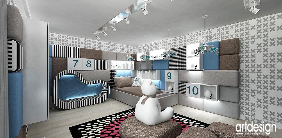 projekty pokój dla dziecka wnętrza