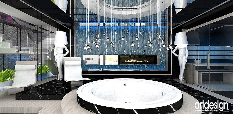 luksusowe domowe spa rekreacja sauna wnętrza aranżacja