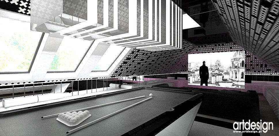 profesjonalne kino domowe wnętrza projektanci