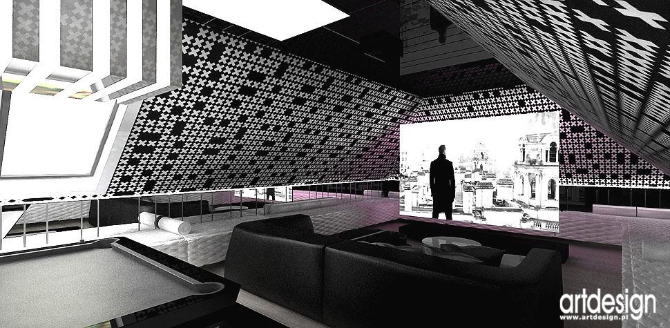 relaks kino bilard rezydencja architekci wnętrz