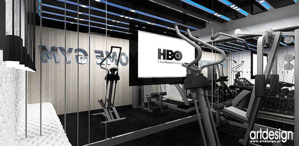 siłownia w domu fitness rekreacja projekty wnętrz