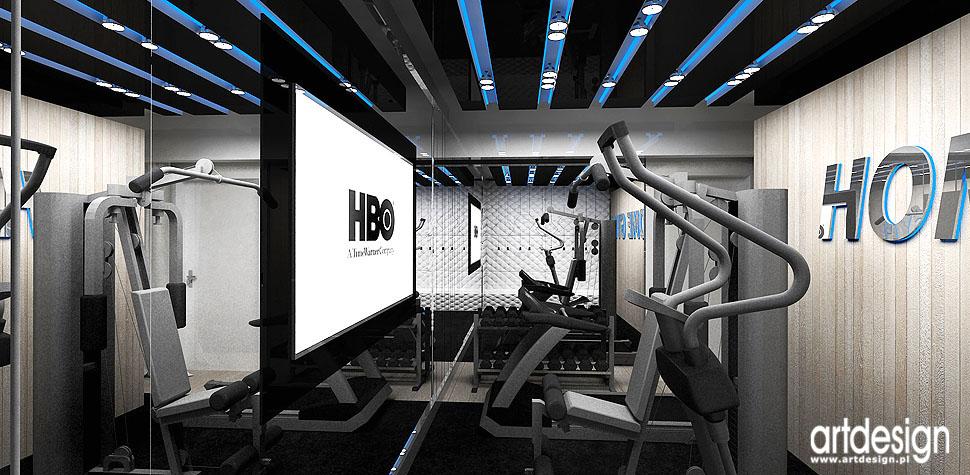 fitness rekreacja projekty wnętrz dom wroclaw