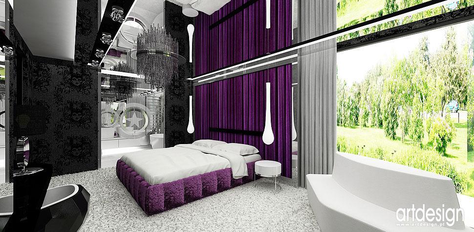 projektowanie wnęrtrz luksusowy dom sypialnia design