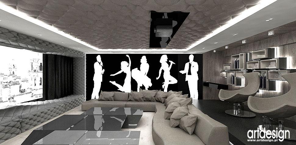 rezydencja kino domowe wnętrza nowoczesne