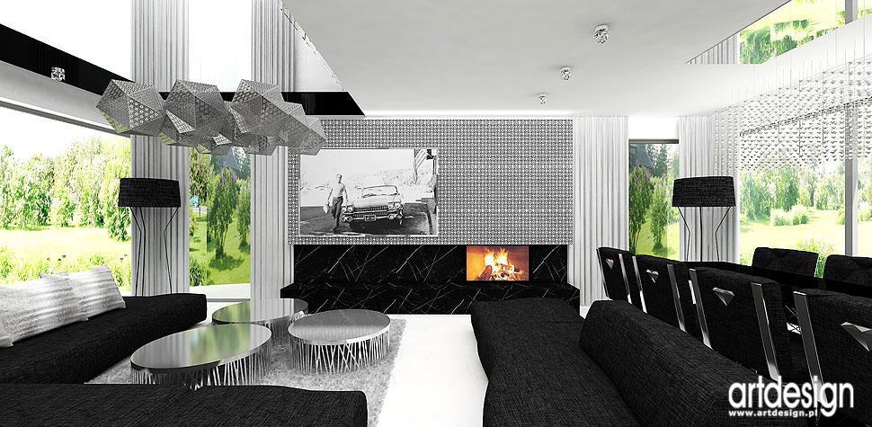 kominek projekt wnetrza dom elegancki