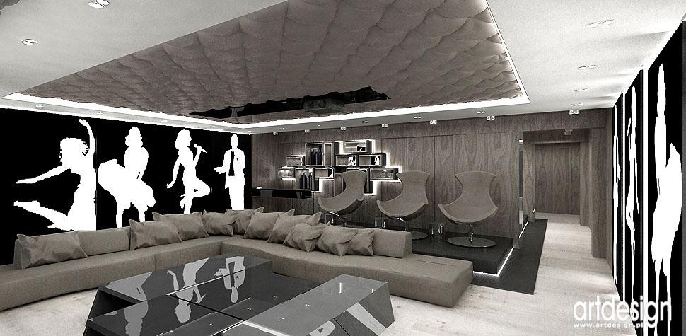 strefa relaksu projektowanie kino pokój kinowy