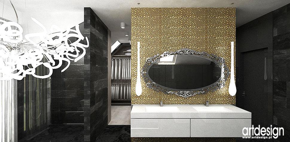 eleganckie wnętrza łazienka projekt