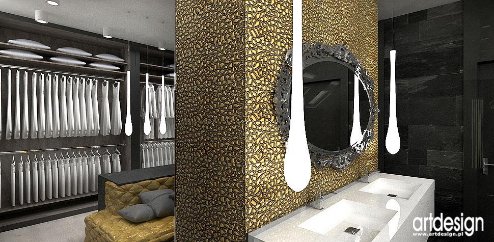 projektowanie wnętrz łazienki garderoba