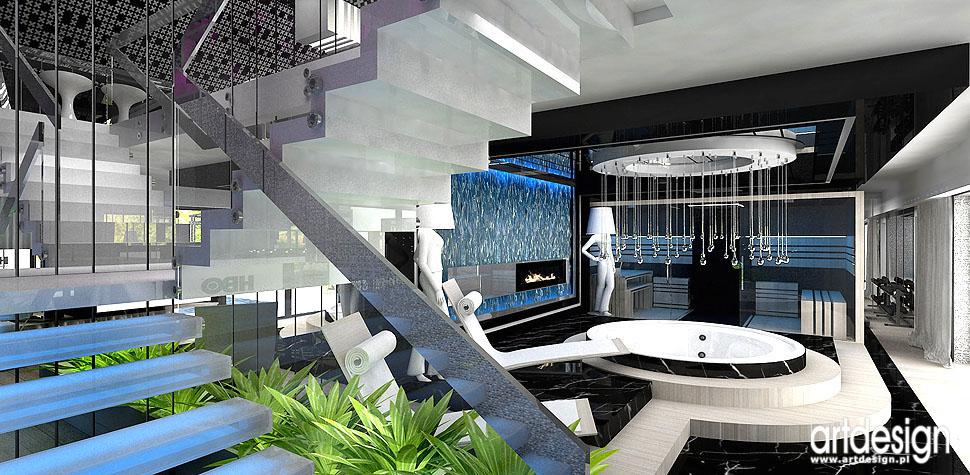 wnętrza domowe spa design nowoczesny