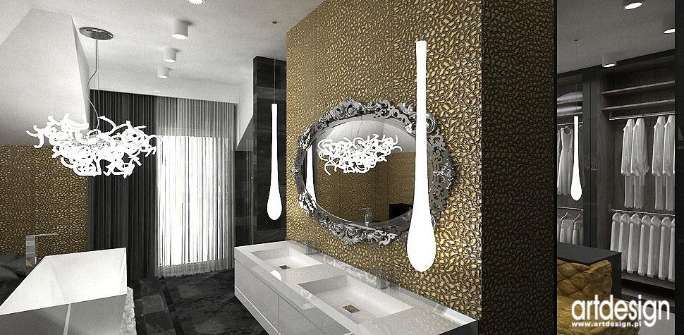 wnętrza luksusowa łazienka garderoba projekty