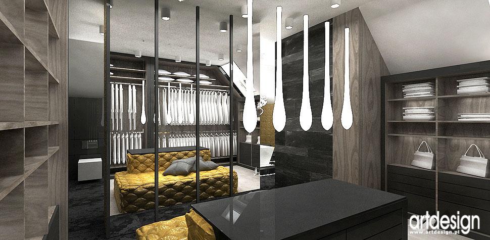 garderoba sypialnia luksusowe wnętrza aranżacja Wrocław