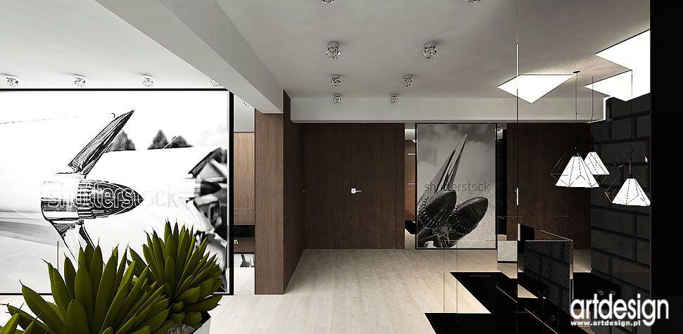 nowoczesne wnętrza dom przedpokój