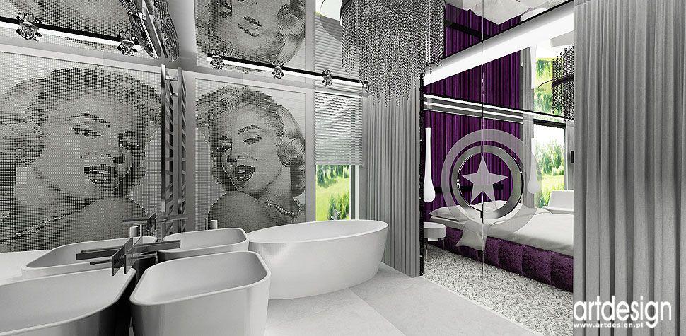 architekci wnętrz łazienka dom nowoczesna