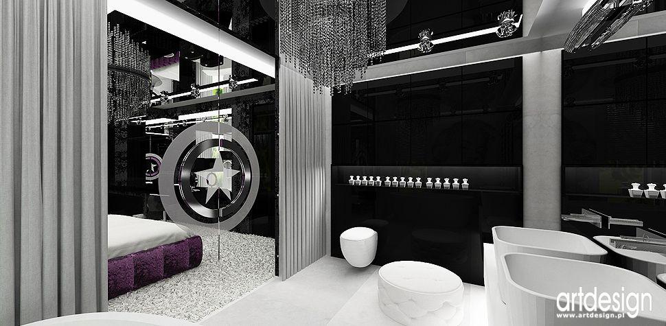 projekty łazienka nowoczesne wnętrza