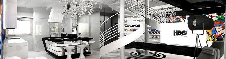wnętrza nowoczesne apartament