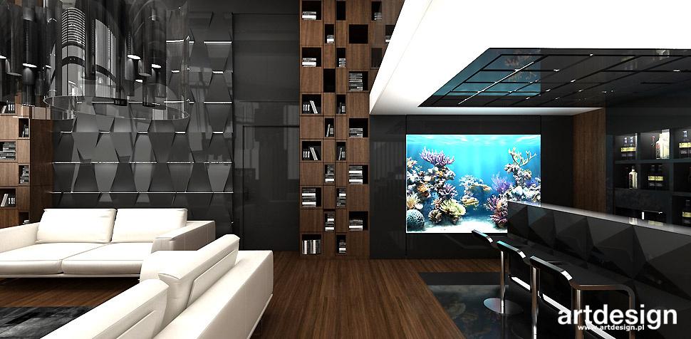 nowoczesny salon akwarium