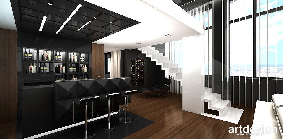 barek salon wnętrza