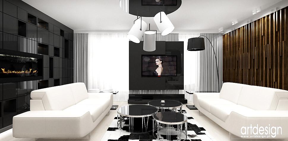nowoczesne wnętrza projekty apartamentów