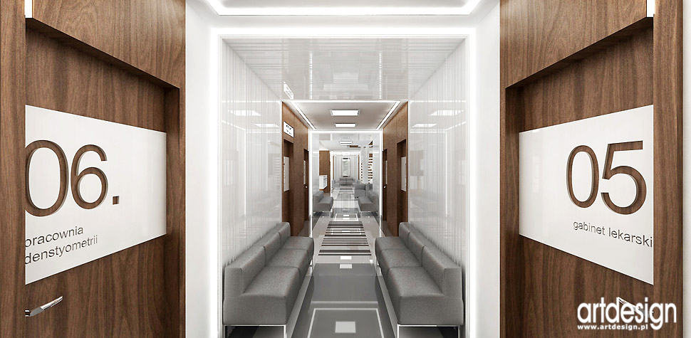 gabinety medyczne klinika wnętrza