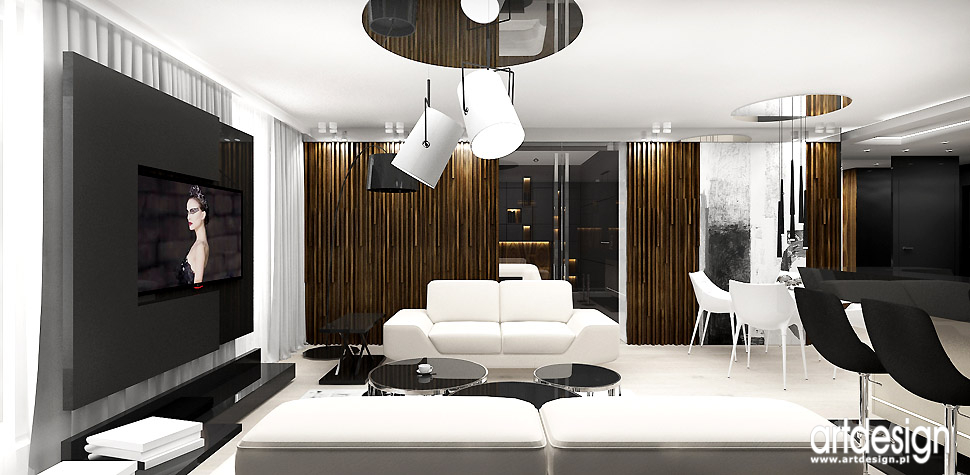 luksusowe wnętrza salonu