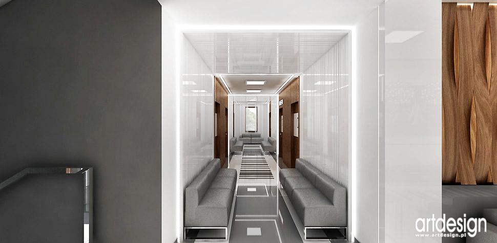 nowoczesna klinika projekty wnętrz