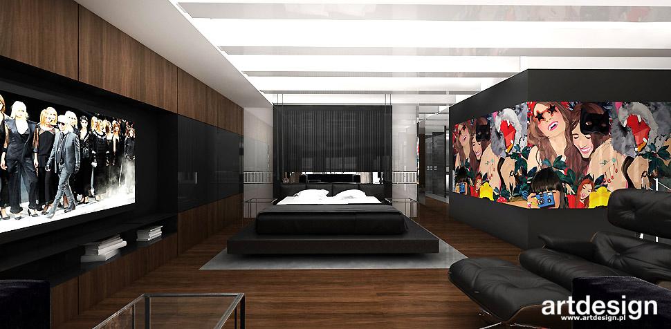 nowoczesna sypialnia wnętrze