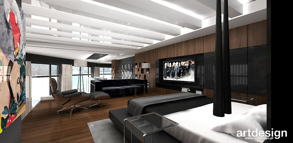 luksusowa sypialnia wnętrza