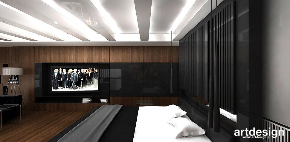 męska sypialnia wnętrza
