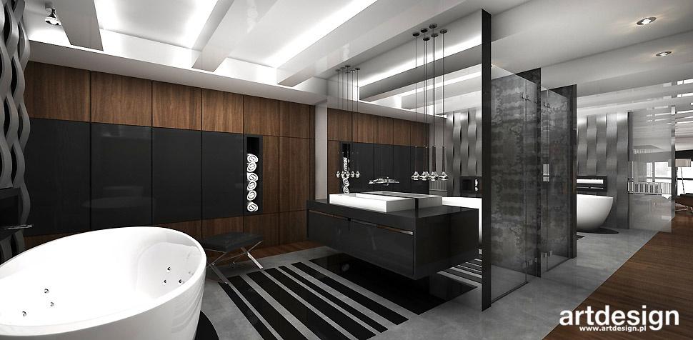 projekty nowoczesnej łazienki