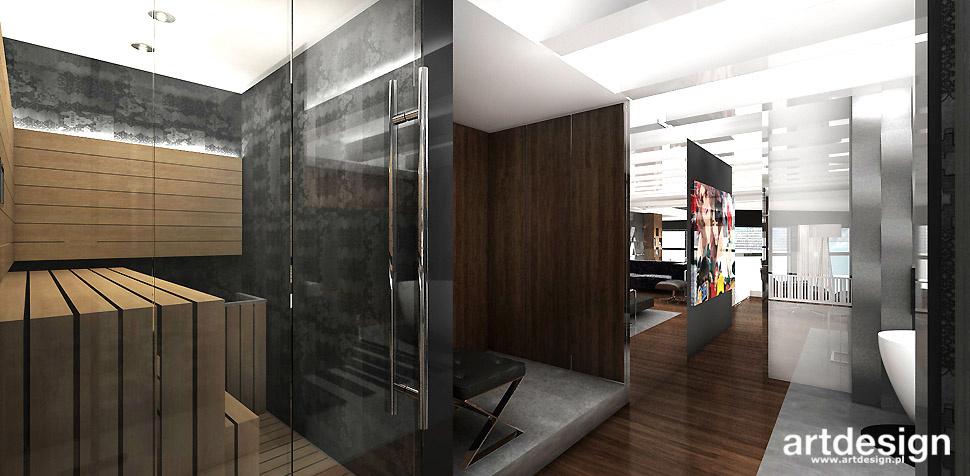 łazienka sauna projekty