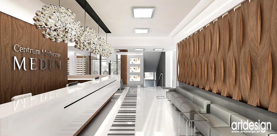 luksusowe wnętrza klinika recepcja